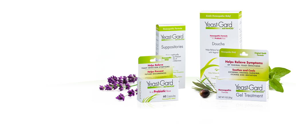 We offer a full line of natural feminine health yeast infection symptom treatment products